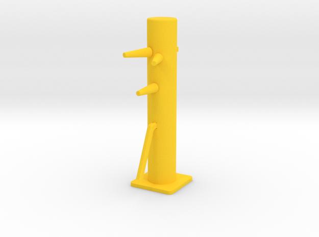 Desktop Mini Wooden Dummy in Yellow Processed Versatile Plastic