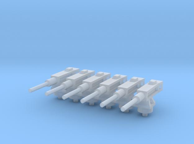 Ametralladora/Machine gun (6x) in Smooth Fine Detail Plastic