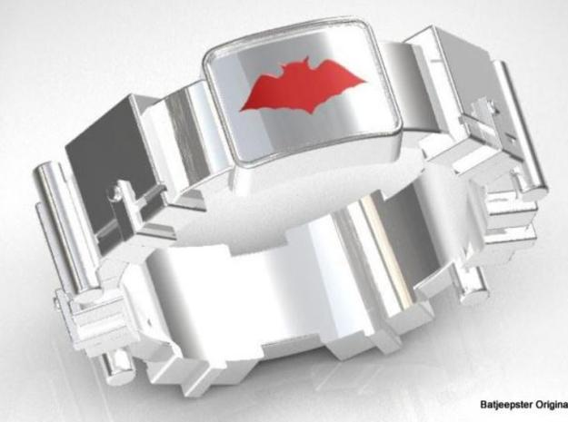 Batman Inspired Utility Belt styled Ring 3d printed