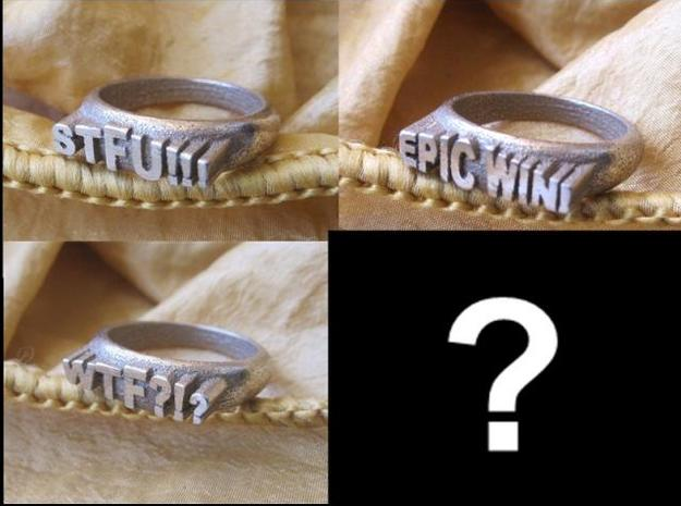 Make your own Meme Ring in Stainless Steel