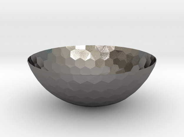 Hexagons Bowl (downloadable) in Polished Nickel Steel