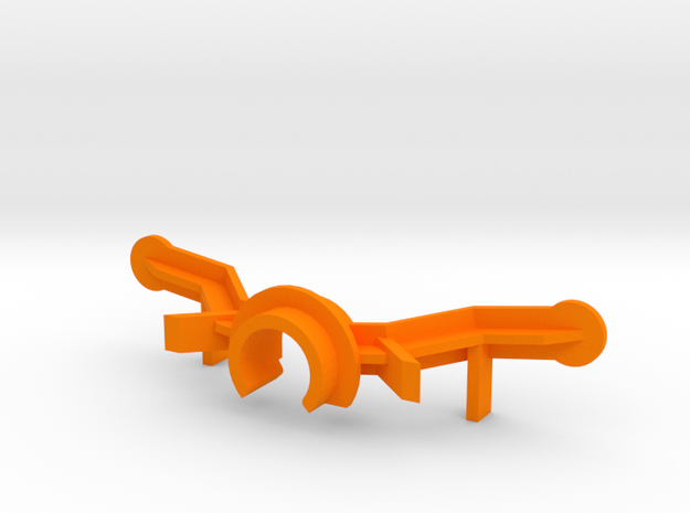 PSSX00104 body adapter for Scalextric AM GT3 in Orange Processed Versatile Plastic