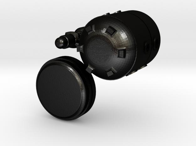 Small Modular Reactor Mug in Matte Black Steel