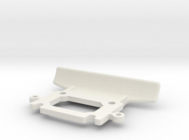 losi mini front bumper jrx2 in White Natural Versatile Plastic