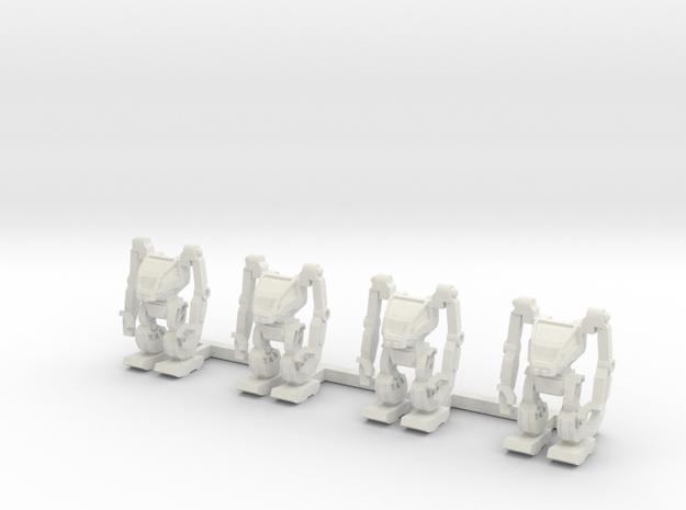 AMP Suit 1 to 285 non-combat standing 4 pack in White Natural Versatile Plastic