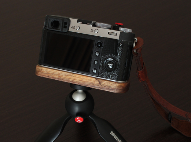 Back grip X100F in Black Natural Versatile Plastic