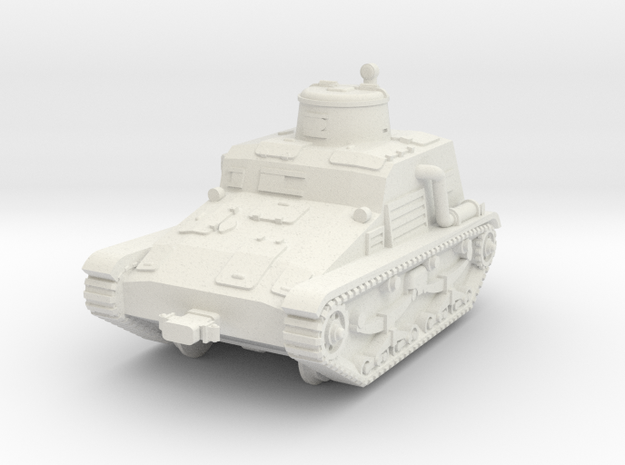 1/72 Type 95 So-Ki railroad armored car in White Natural Versatile Plastic