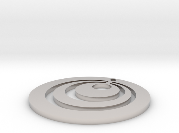 Circles Earring in Rhodium Plated Brass