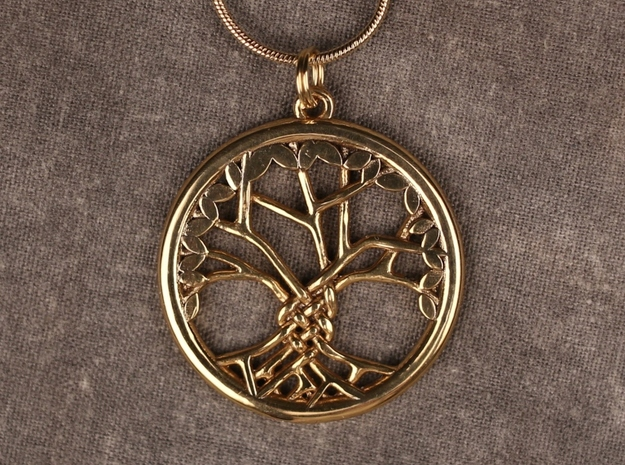Tree Of Life 30mm Diameter in Raw Brass