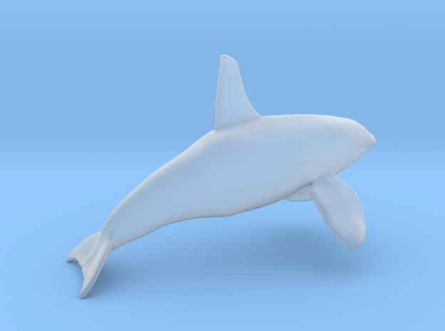 Orca Bull Male N scale in Smooth Fine Detail Plastic