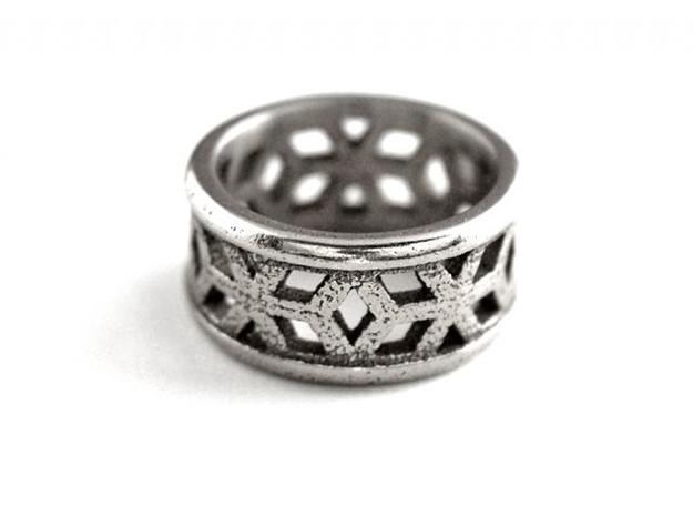 Muster Ring in Polished Bronzed Silver Steel
