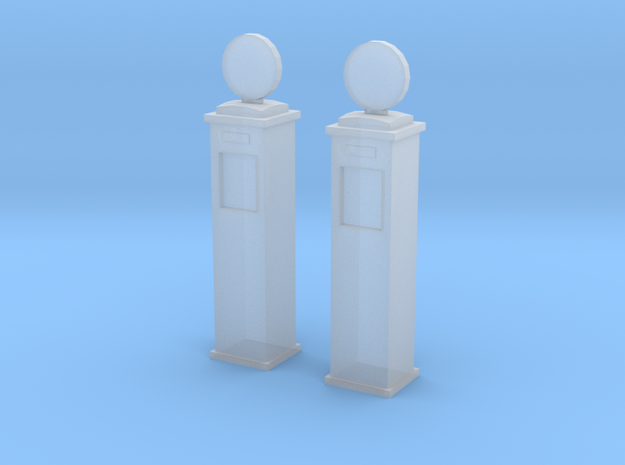 N Gauge American Style Gas pumps in Smoothest Fine Detail Plastic