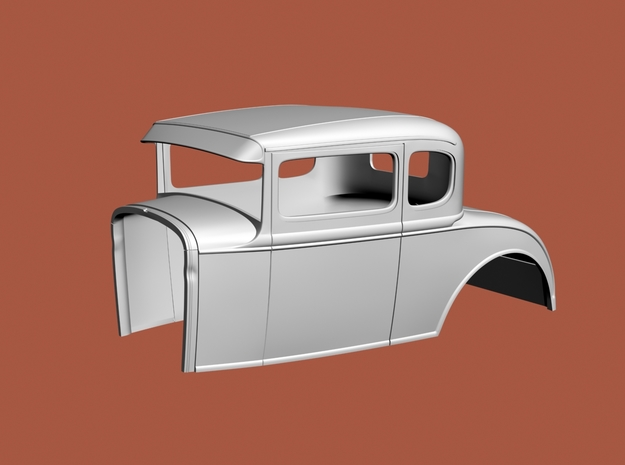 "1/16  '30 Ford coupe, 2.5"" chop in White Natural Versatile Plastic"
