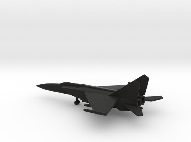 MiG-25PDS (with droptanks) in Black Natural Versatile Plastic: 6mm