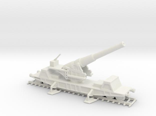 British  bl 9.2 MK13 1/200 railway artillery ww1 in White Natural Versatile Plastic