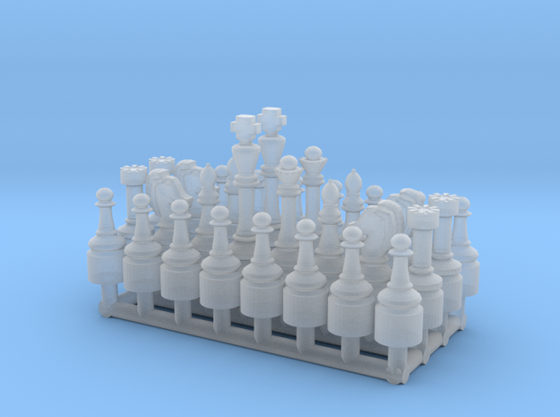 1/18 Scale Chess Pieces Sprue (Full Set) in Smooth Fine Detail Plastic