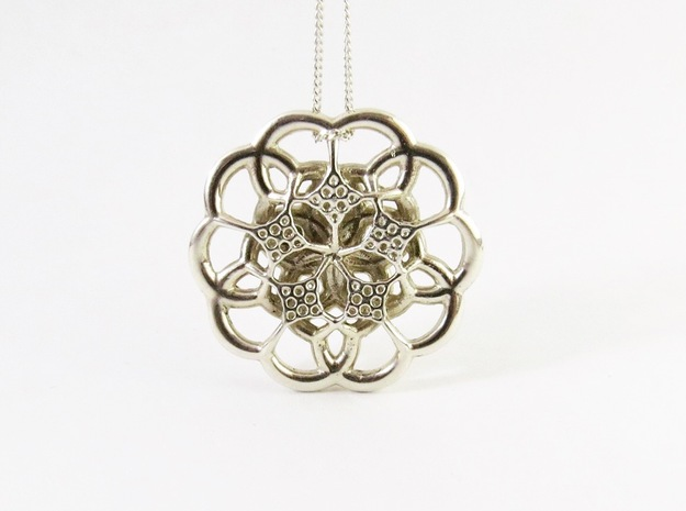 Monera Flower in Polished Silver