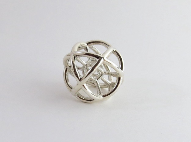 Monera Sphere in Polished Silver