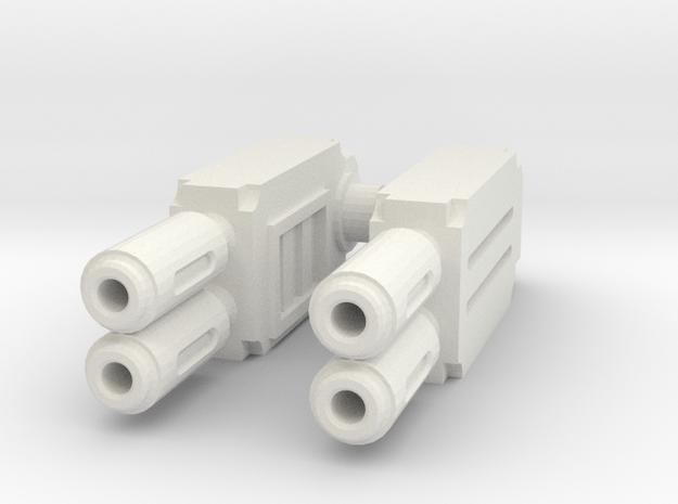 Weapons pair : Multi-gun in White Natural Versatile Plastic