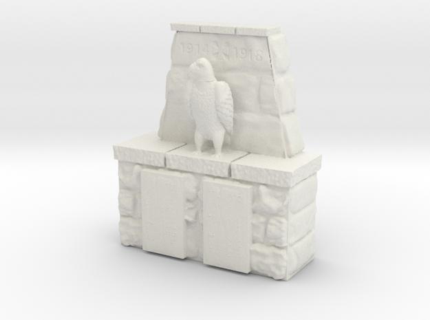 honor memorial (15mm scale) in White Natural Versatile Plastic