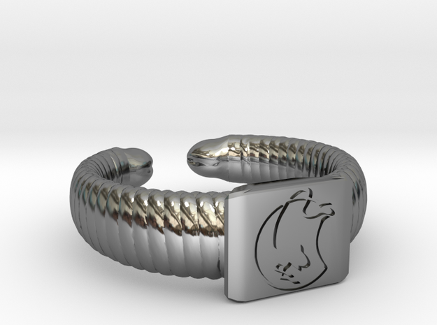 Muadib ring in Fine Detail Polished Silver