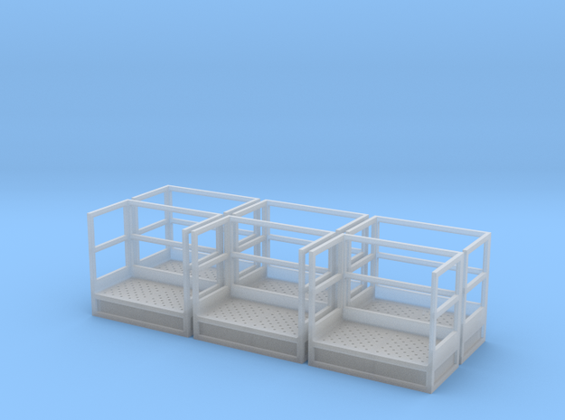 1/64 Stairs Platform for 15' Tower 6pc in Smooth Fine Detail Plastic