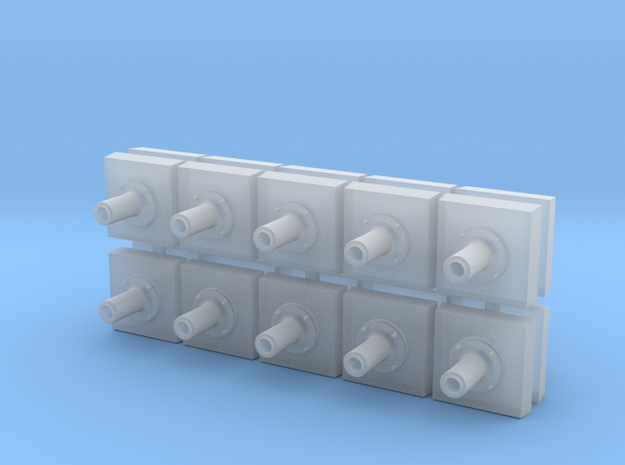 Round Style Post Base (N - 1:160) 20X in Smoothest Fine Detail Plastic