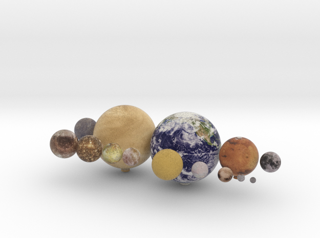 14 object set 1:150 million in Natural Full Color Sandstone