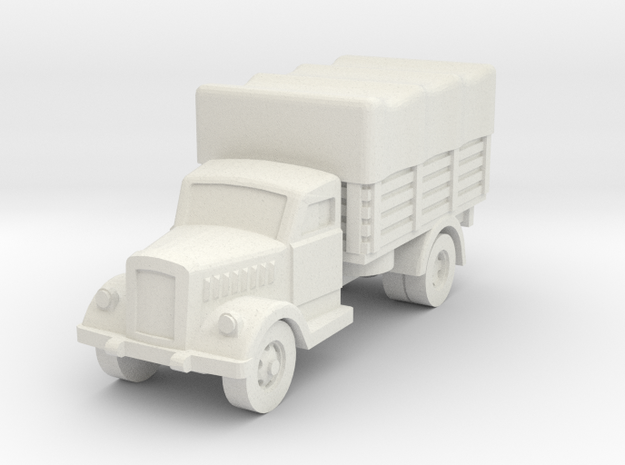 opel blitz (covered) scale 1/100 in White Natural Versatile Plastic