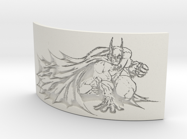 Batman Curved Lithophane in White Natural Versatile Plastic