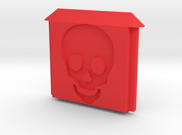 Time to Die Skull Door for Stick Battery Box in Red Processed Versatile Plastic
