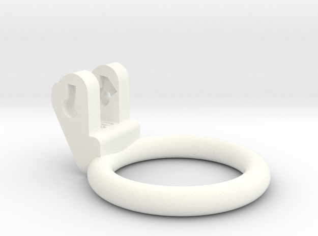 New Fun Cage - Ring - 40mm - Circular in White Processed Versatile Plastic