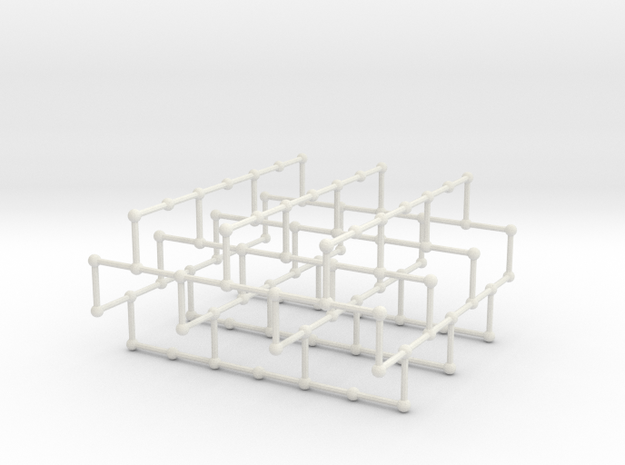 Haugland's grid subgraph no. 1 in White Natural Versatile Plastic