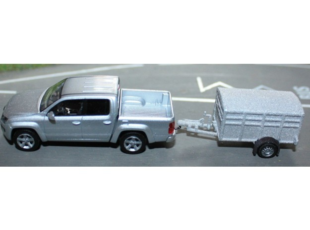 1046 Tiertransporter HO in White Natural Versatile Plastic: 1:87 - HO