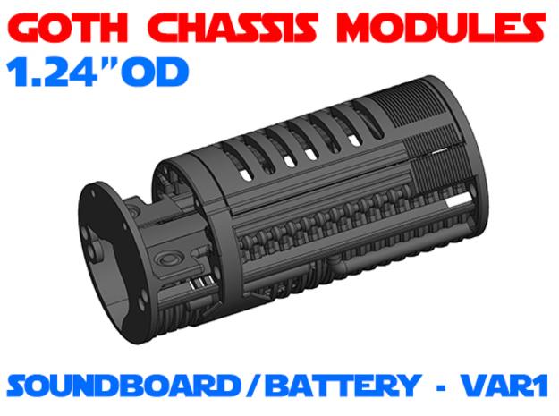 GCM124 - Soundboard Lightsaber Chassis Var1 in White Natural Versatile Plastic
