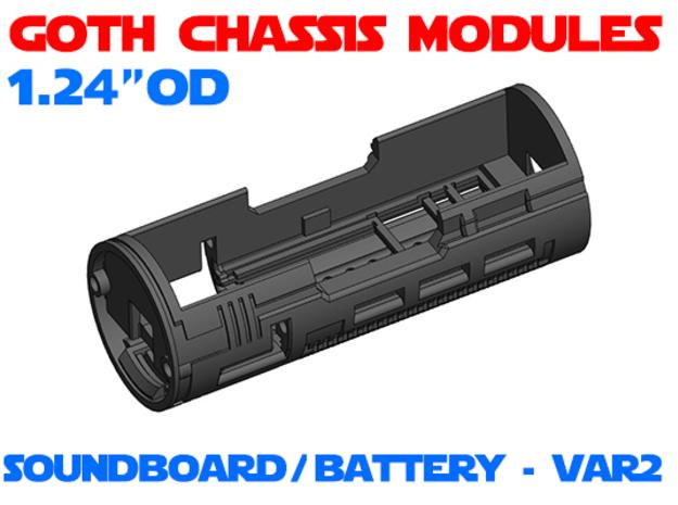 GCM124 - Soundboard Lightsaber Chassis Var2 in White Natural Versatile Plastic