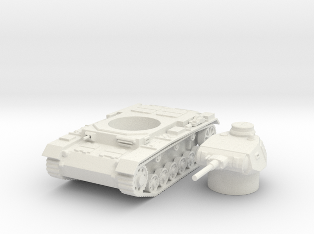 panzer III F scale 1/87 in White Natural Versatile Plastic