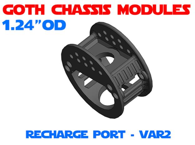 GCM124 - Recharge Port Chassis Var2 in White Natural Versatile Plastic