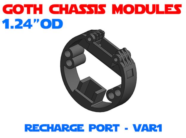 GCM124 - Recharge Port Chassis Var1 in White Natural Versatile Plastic