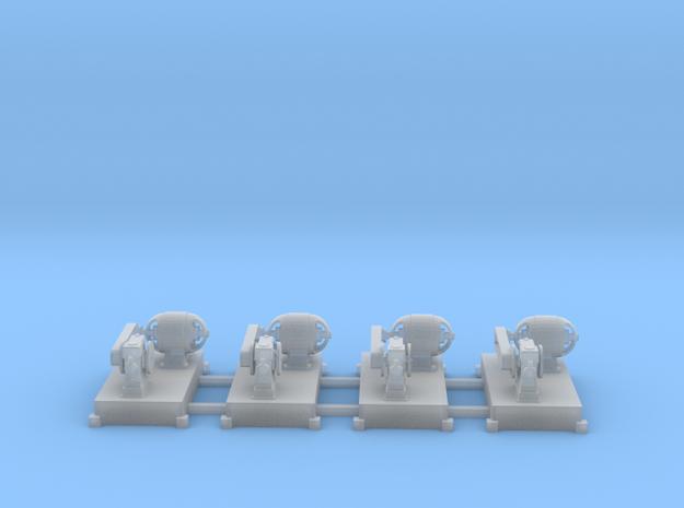 Motor-Generator-Satz (V6) mit Transmission 4erSet  in Smooth Fine Detail Plastic