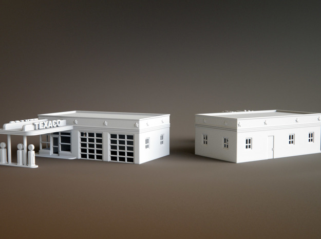 50s Texaco Station Scale: 1:200 in Smooth Fine Detail Plastic