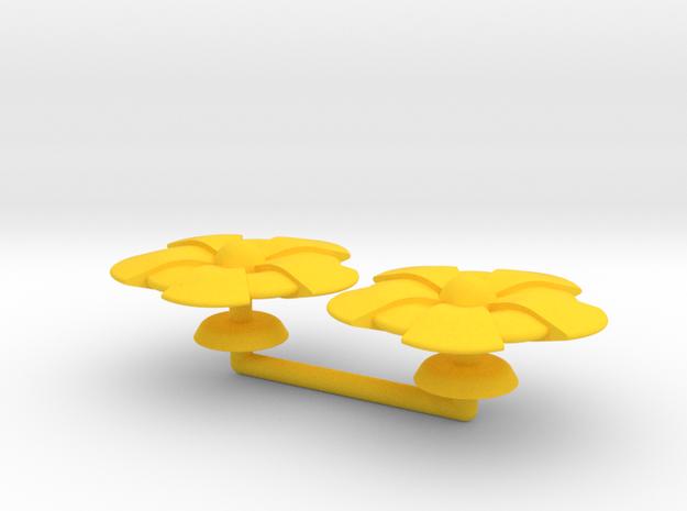 Beta Generic Large Warship Squadron in Yellow Processed Versatile Plastic