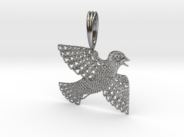 Birdy in Polished Silver