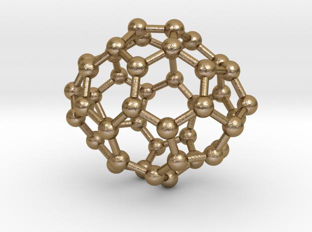 0652 Fullerene c44-24 d2 in Polished Gold Steel