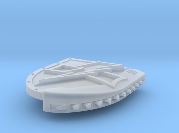 Right-handed Chainshield (Bolt and Level design) in Smooth Fine Detail Plastic: Small