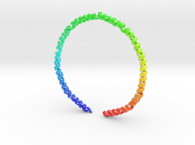 Nanodisc Ring in Glossy Full Color Sandstone