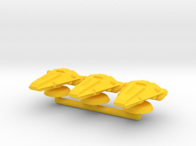 Delta Generic Medium Warship Squadron in Yellow Processed Versatile Plastic