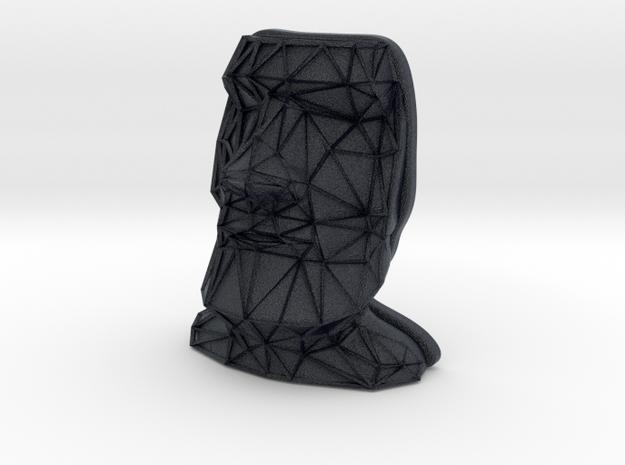 Moai Face + Voronoi Mask in Black PA12