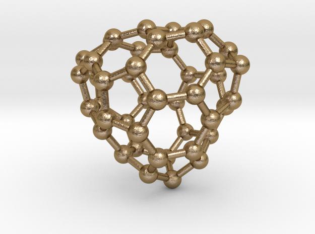 0659 Fullerene c44-31 c1 in Polished Gold Steel