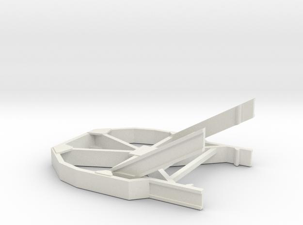 O scale 1/48 Boeing Icebreaker for railroad flatca in White Natural Versatile Plastic